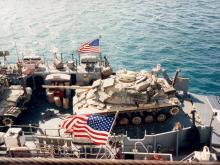 Desert storm aboard USS NASSAU