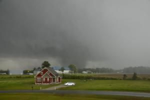 Tornado Storm passing along east of I-95 between Dunn and Benson.