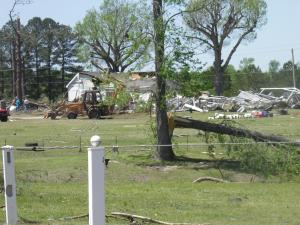 Wilson County tornado damage near Quaker rd. & Radford rd. Houses gone & buildings ripped apart