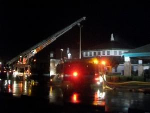Fire at the First Free Will Baptist Church of Wilson on June 10, 2011. (Photo courtesy of Kelly Carlton)