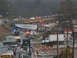 Accident on 401 North in Lillington. (Photo courtesy Steve Sorsch.)