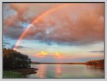 Rainbow over Lake Crabtree