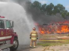 Clayton controlled burn