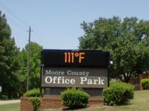 Our temp. reading here in Carthage.