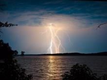 Summer Lightning over Kerr Lake
