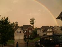 Weather - rainbow over Rolesville