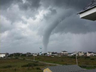 A water spout - which is a tornado over open water - passed off the coast of Rodanthe on Hatteras Island on Sunday, Aug. 19, 2012, according to the Dare County Sheriff's Office.