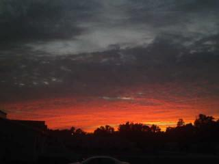 It had been raining all day, then I saw this wonderful sunset.