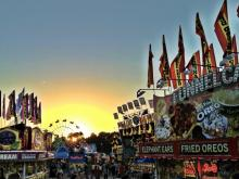 Sunset at the NC State Fair