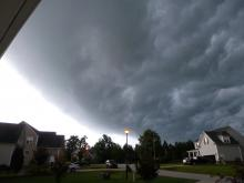 WRAL viewers submitted these photos as a strong line of thunderstorms rolled into the Triangle and Sandhills Wednesday evening. The system created some particularly ominous clouds, but caused little damage.