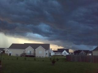 Stormy clouds over Princeton north Carolina