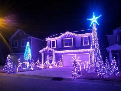 Christmas Lights at Station Drive, Morrisville