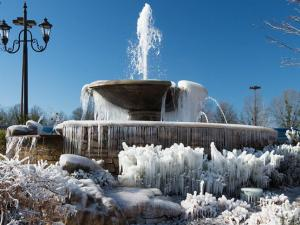 Fountain at Waverly Place in Cary on Jan. 7, 2014. (Submitted by Wayne Ackley, Cary)