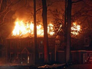 This is a picture of a house fire in North Raleigh at Whitestone and Carrington Road.  2:30am, January 11th. (Photo courtesy of Tom Winsch)