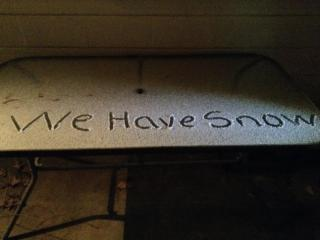 We are finally getting snow in Sanford!!