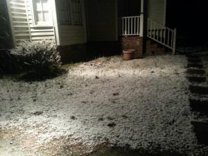 Snow in Nashville, N.C.