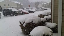 Fayetteville, NC...Heavy Snow Began at 11am