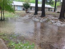 hail and rain