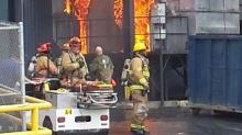 IMAGES: No serious injuries in Wilson tire plant fire