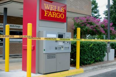 After math of Wells Fargo bank robbery.after 1pm