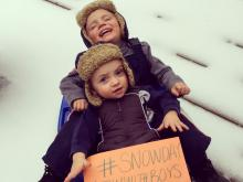 Brothers love snow days!