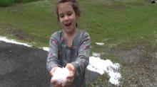 Amazing Hail Video - SouthPoint Mall Area