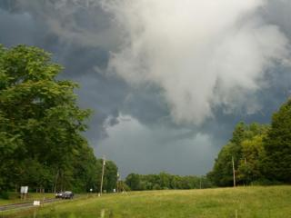 The oncoming storm while driving south on Hwy 57 in Orange County north of Hillsborough