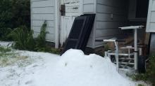 IMAGES: Your photos: Hail falls across parts of central NC