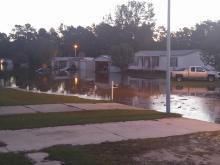 Creek flooded on tippit trl.