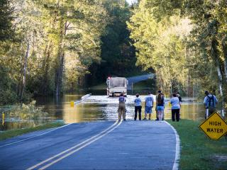 Water rescue occurring at Autry Mill Road bridge in Sampson county. Wanted to recognize and thank the Clement Fire Dept. and the National Guard for their hard work and dedication.