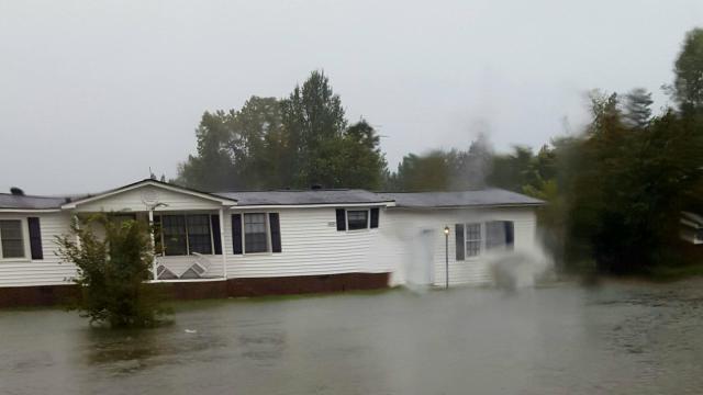 Hurricane Matthew Flooding In Wilson, NC