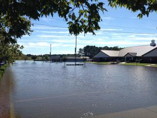 These are pictures of the campus of Fatih Christian Academy early this morning. The campus is located 1200 W Grantham St in Goldsboro at the intersection of Hwy 70 and I-795. These pictures were taken before the Little River and Neuse River crested. The Preschool has 3 feet of standing water in it and is currently rising.