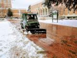 Clearing Snow at UNCC Jan 2017