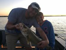 My son Wilson caught a 26 in about 6 lb Walleye