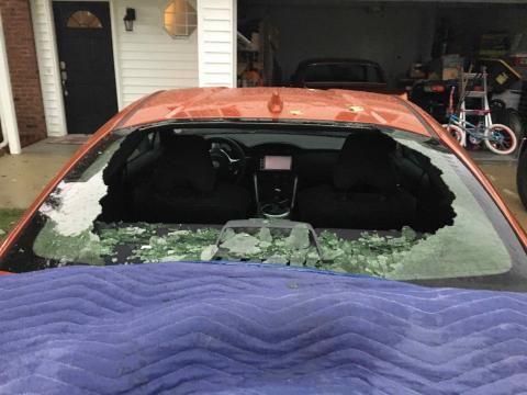Storm Fuquay Giant Hail