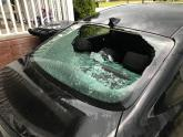 IMAGES: Softball-sized hail, strong winds damage homes, businesses
