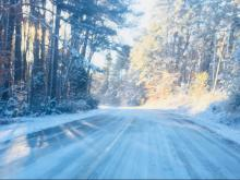 Snow in Warrenton, NC