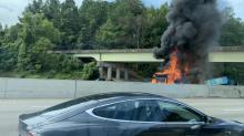 IMAGES: Fatal crash involving 3 vehicles shuts down I-40E in Raleigh for 6 hours