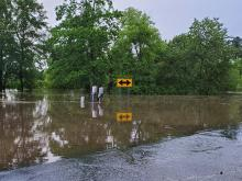 Flooding in two areas in Sampson County
