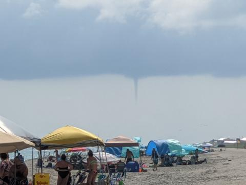 Water spouts off Emerald Isle