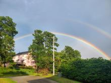 Beautiful Double Rainbow in Fayetteville