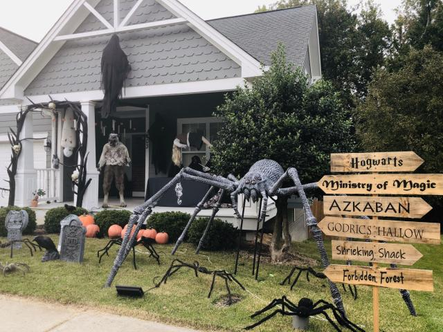 Harry Potter themed Halloween house! 203 Homegate Circle, Apex (Hopefully the photos uploaded, because I can't see a verification of that. Happy to submit again if not.)