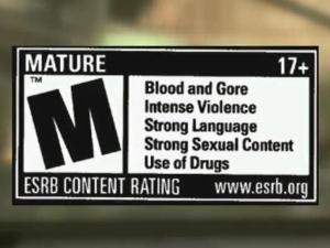 Mature content rating for video games