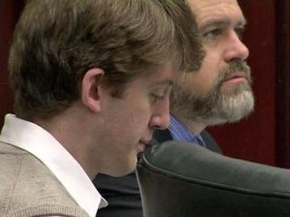 Jason Williford listens to testimony on May 18, 2012, in his first-degree murder trial for the rape and death of state school board member Kathy Taft in 2010.