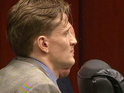 Jason Young sits in a Wake County courtroom during opening statements on June 7, 2011, in his first-degree murder trial. Young, 37, is accused of killing his pregnant wife, Michelle Young, in November 2006.