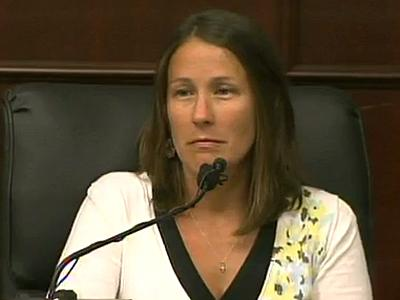Michelle Money testifies June 14, 2011, in the first-degree murder trial of Jason Young.