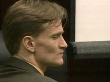 Jason Young sits in a Wake County courtroom on June 14, 2011, during his first-degree murder trial.