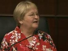 Pat Young testifies June 20, 2011, in the trial of her son, Jason Young, who is accused of beating his wife to death inside their home on Nov. 3, 2006.