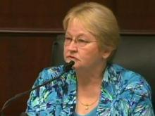 Pat Young testifies June 21, 2011, in the first-degree murder trial of her son, Jason Young.