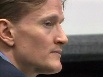 Jason Young sits in a Wake County courtroom on June 21, 2011, during his first-degree murder trial.